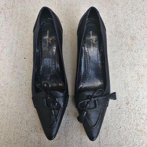 Brooks Brothers 346 Tassel Heels Black Leather